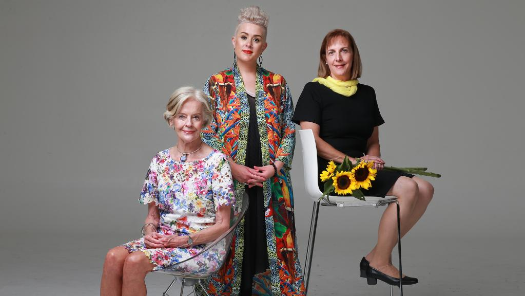 Former Governor General Quentin Bryce, Katie Noonan and domestic violence campaigner Vanessa Fowler. Image by Claudia Baxter