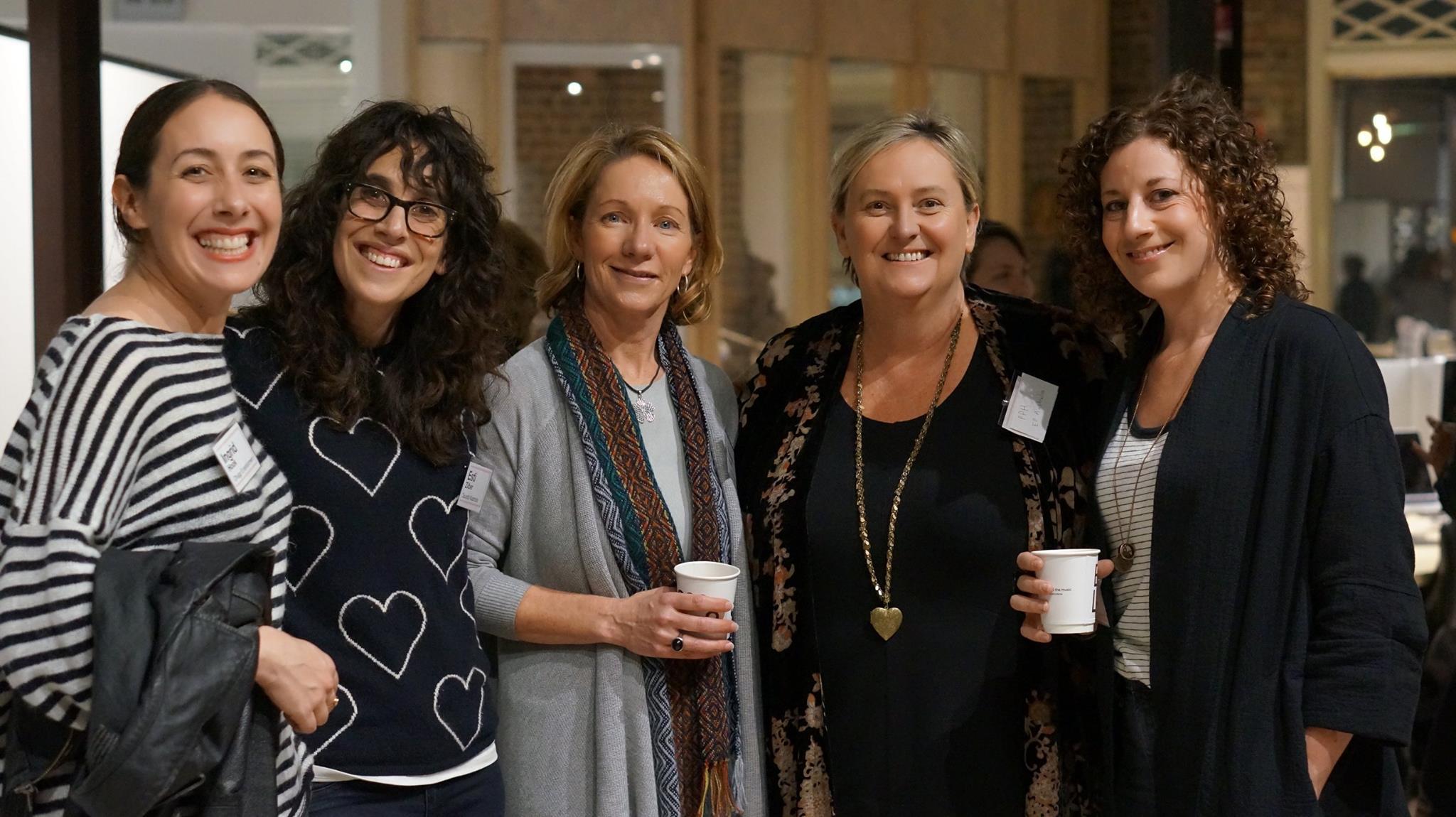 Susan Heymann with other women in music. Image via Facebook/WIMSydney
