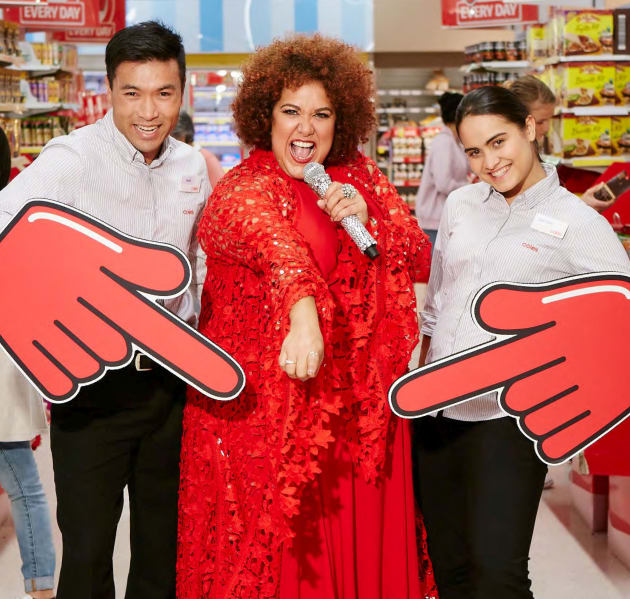 Casey Donovan performs in the latest campaign for Australian supermarket Coles