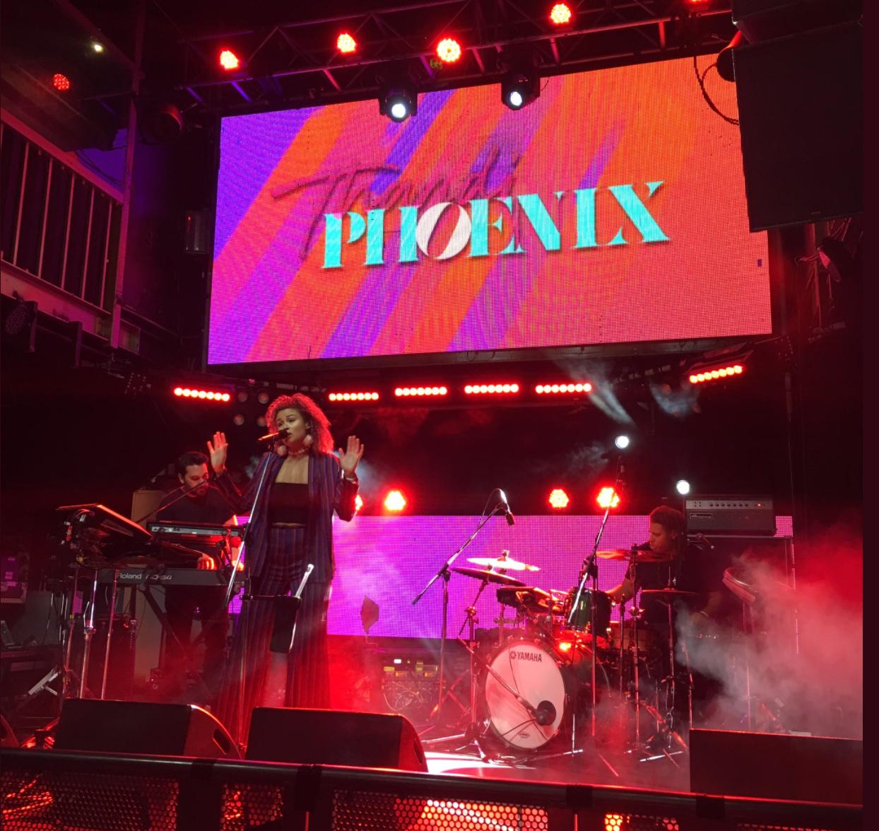 Thandi Phoenix performs at Bigsound 2017. Image via Bridget Hustwaite.