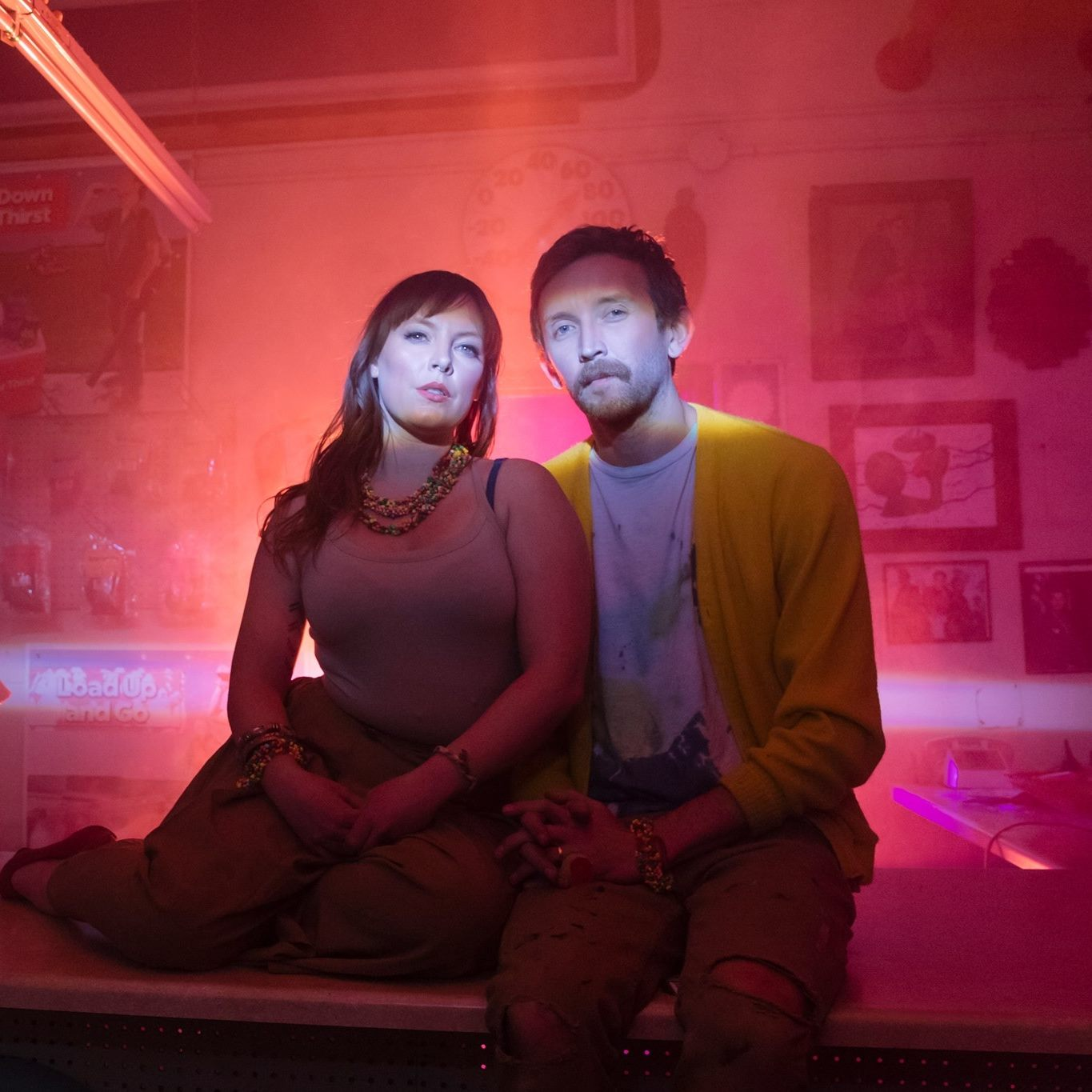 Amelia Meath and Nick Sanborn from Sylvan Esso. Image:Lindsey Kennedy and Meow Wolf