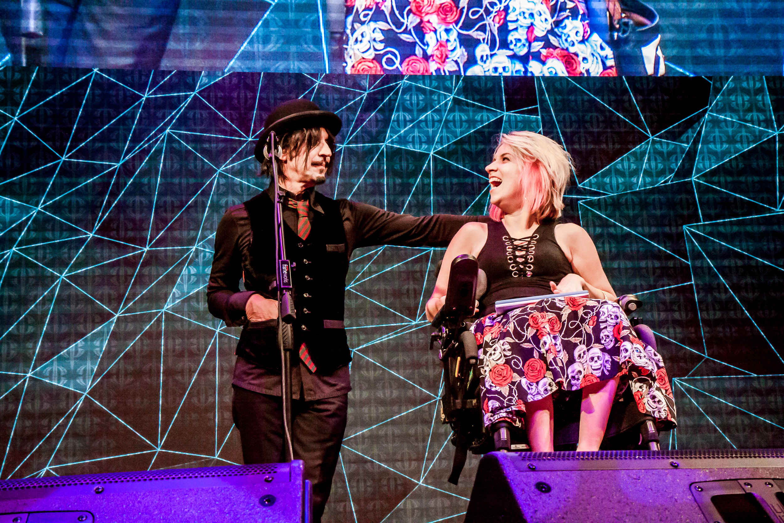 Steve Balbi with Jessica Irwin. Image by Russell Cherry