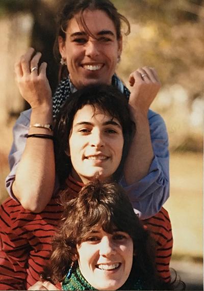 Felicitas, Me, Sofia (top to bottom) c. 1985