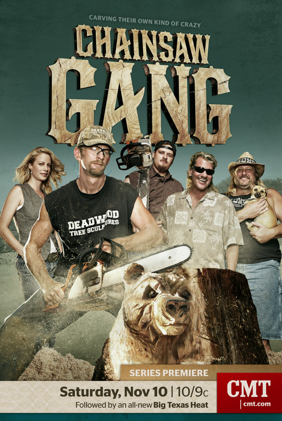 Mark DeLong - Commercial Photography - Group photo of the chainsaw gang.