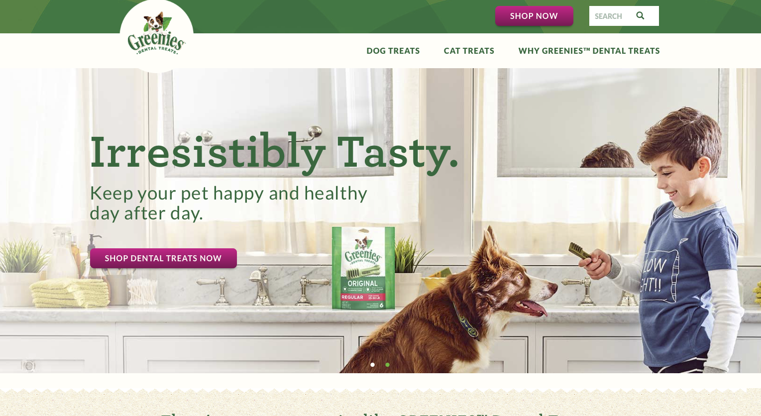 Featured on the newly launched GREENIES  website .