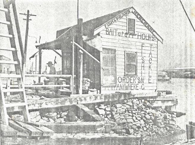 Hartley Spurr's bait shop at Perkins Street boat harbour