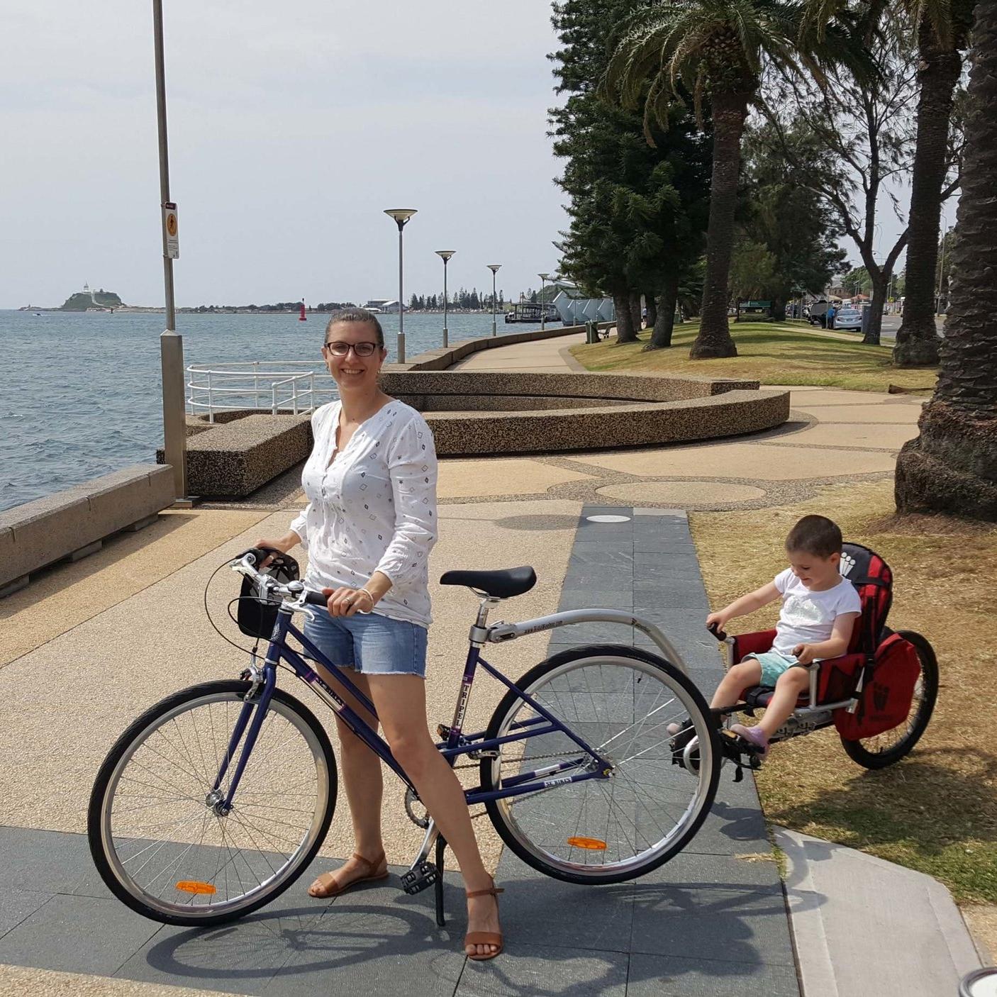 Bike with weehoo trailer