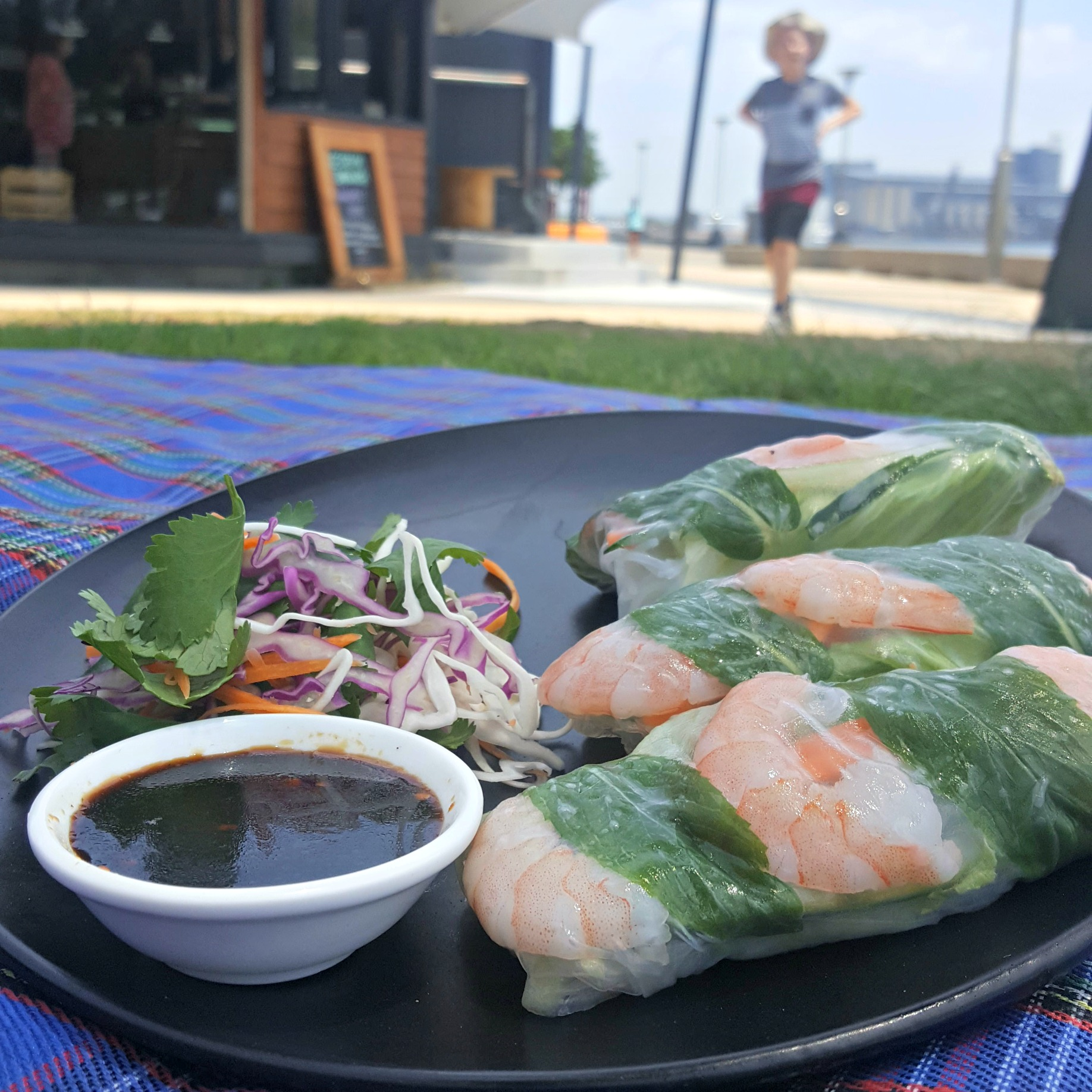 Option Three - Vietnamese rice paper rolls with black bean sauce (Served with herb salad and Black bean & pepper sauce)Fruit salad for twoYour choice of icecream from Lynch's Hub (2 x single serve of any of our awesome flavours of premium artisanal icecreams)2 x Bottles of Parkers organic soft drinks (Choose from ginger beer, cola, lemonade or lemon lime and bitters)2 x bottles of water