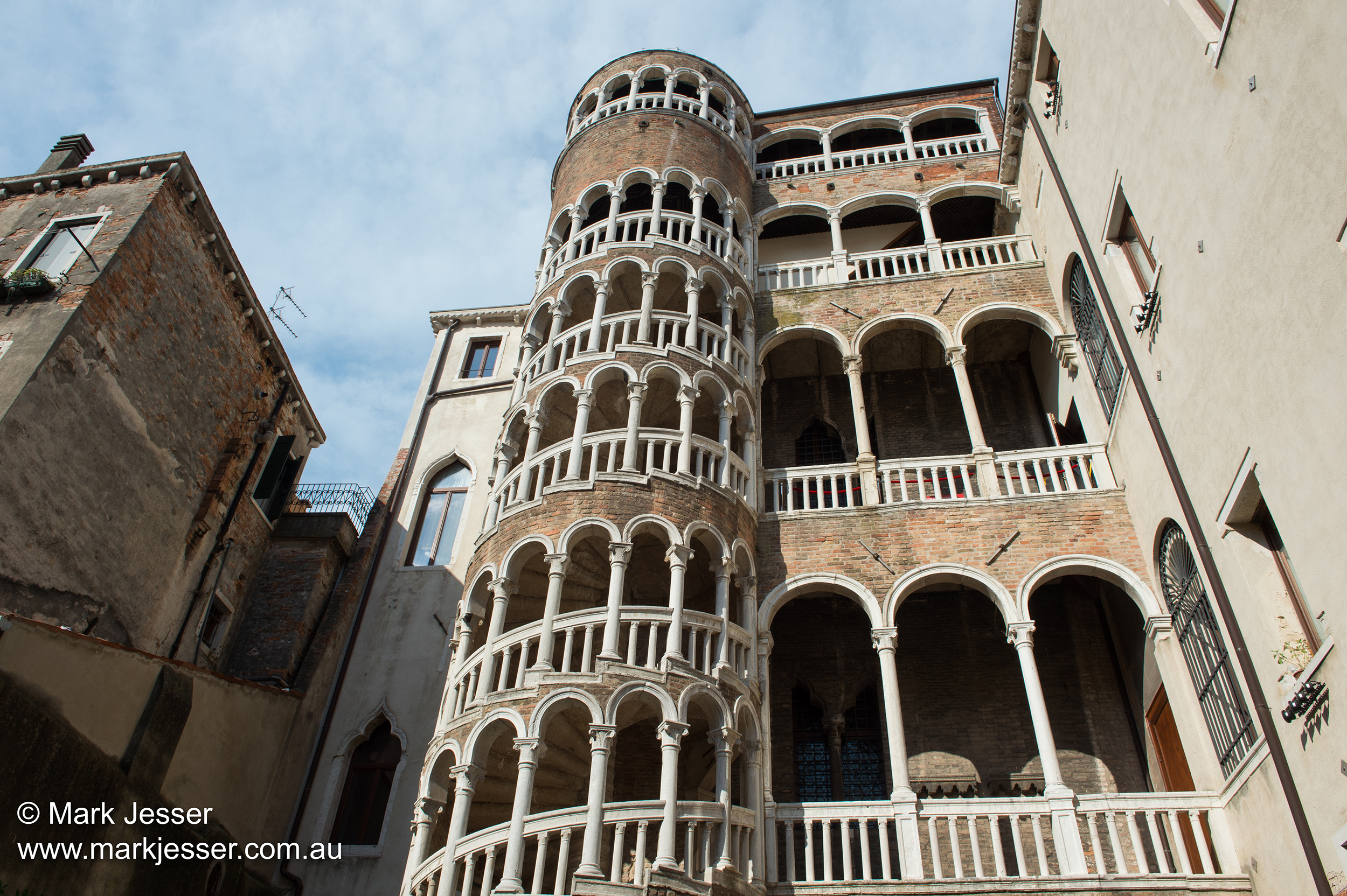 (Photo Mark Jesser) Venice, Italy. - Palazzo Contarini del Bovolo (Spiral Stair Case)