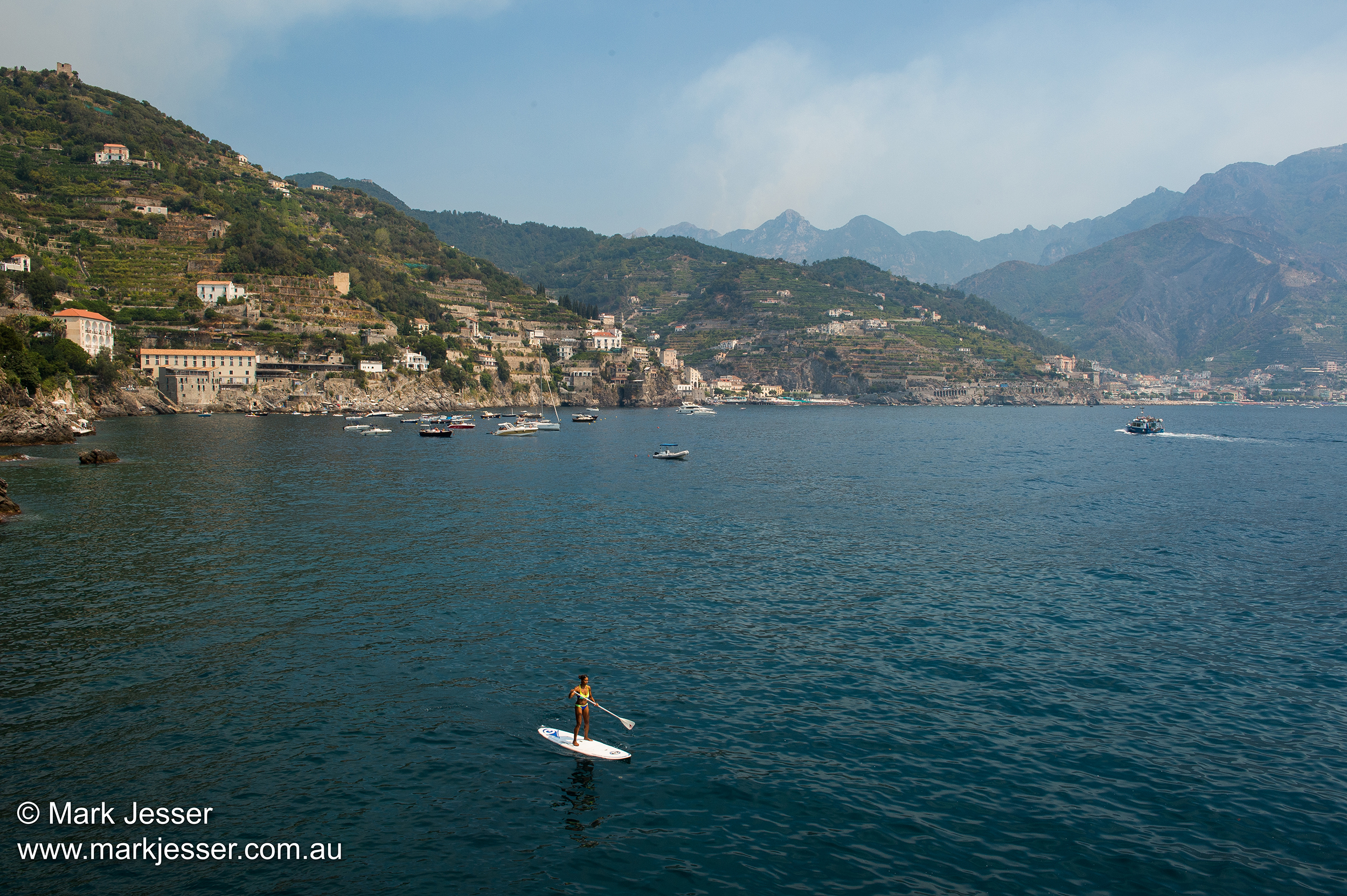 (Photo Mark Jesser) Ravello, Italy. -Paddleboarding in the morning sun.