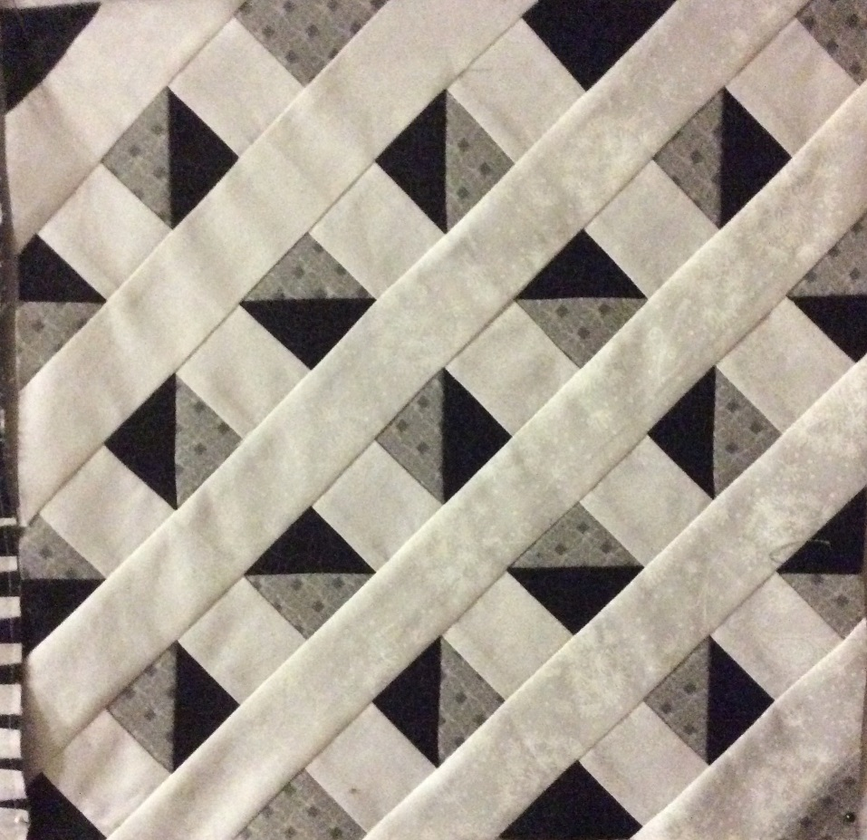 Lattice Illusion - Do you see the white lattice or the black and grey shapes?Do the black and grey shapes appear to move?