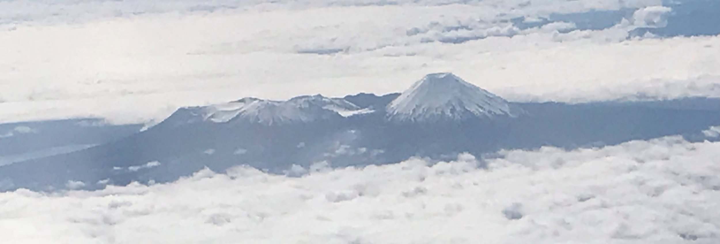 Tongariro is to the left and Ngauruhoe to the right.