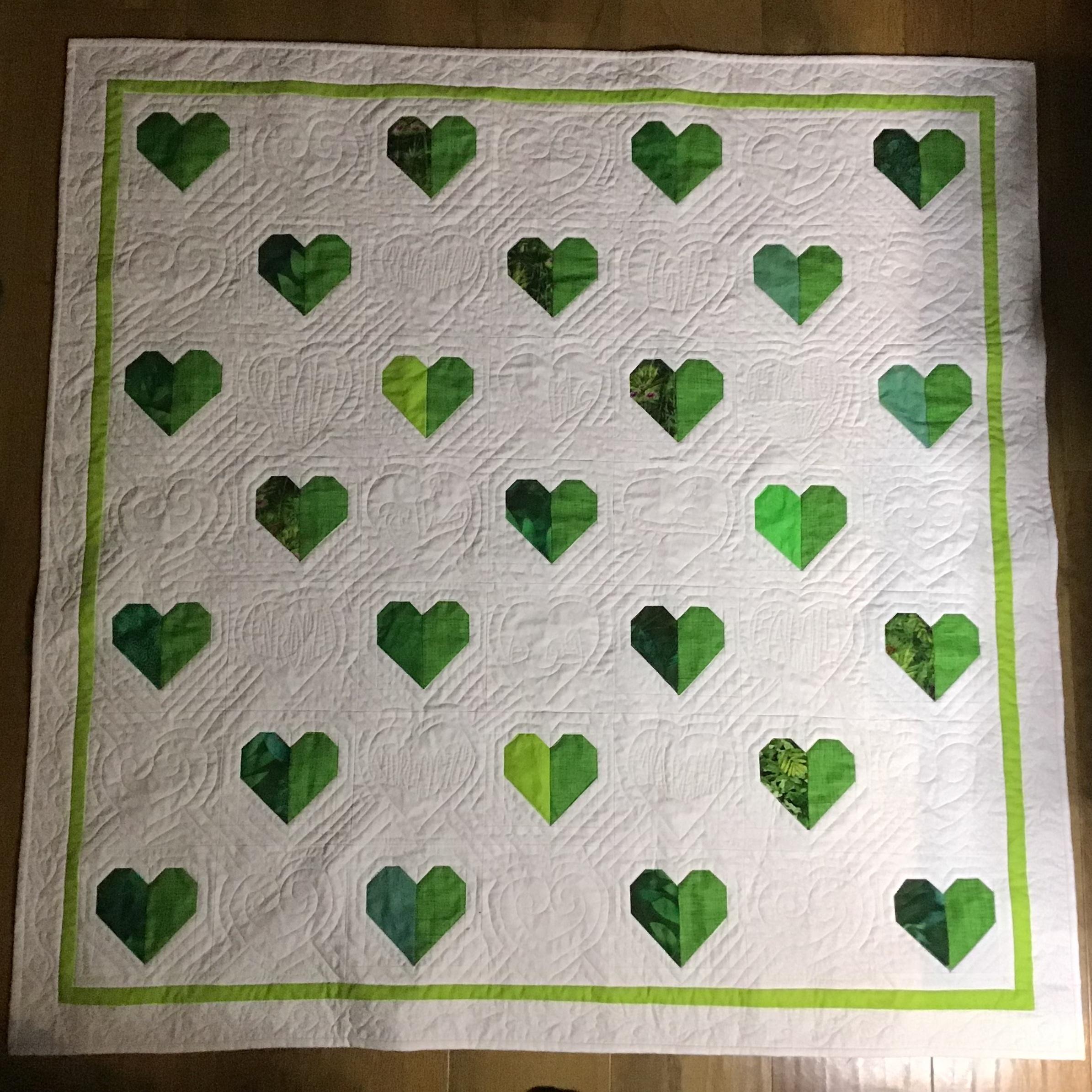 Healing heart quilt for Christchurch