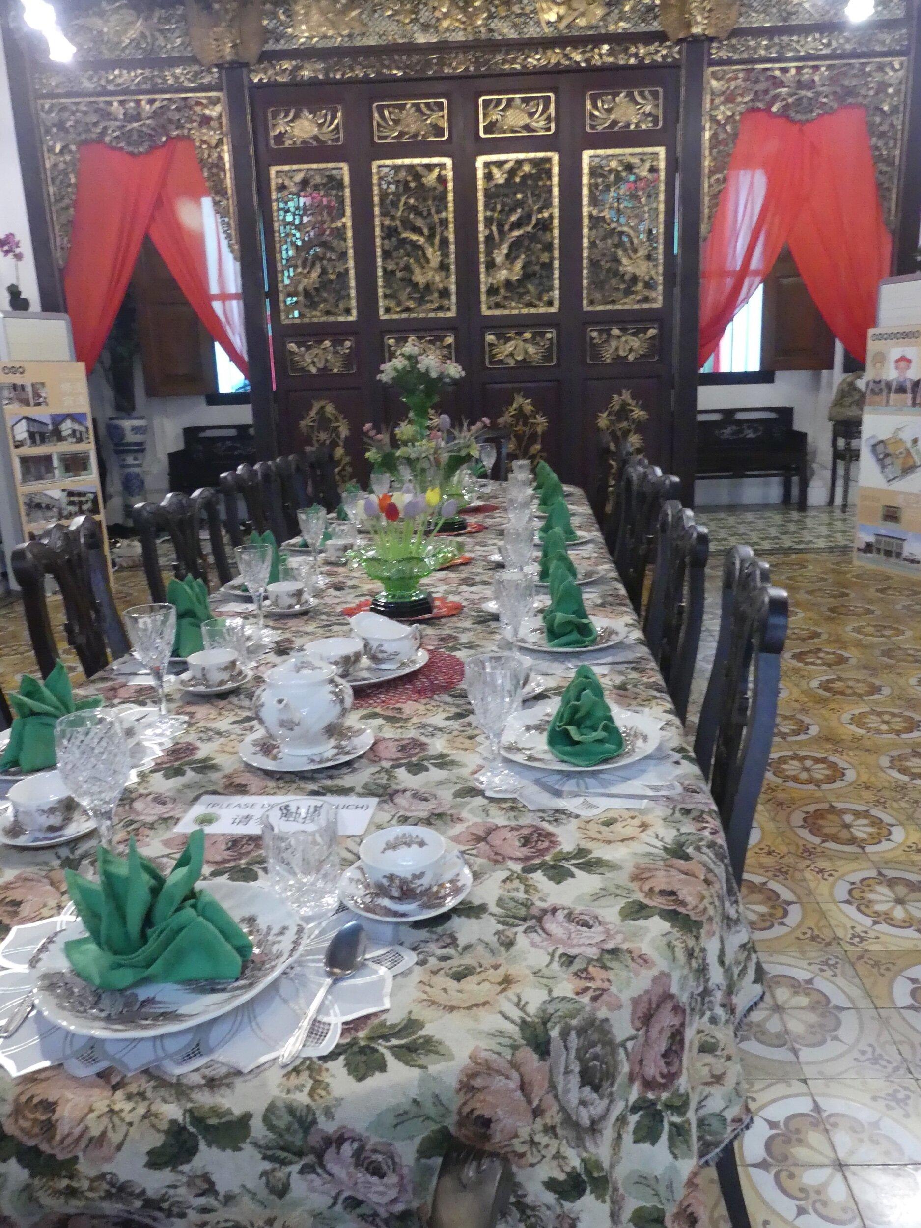 Formal dining room, Penang peranakan museum