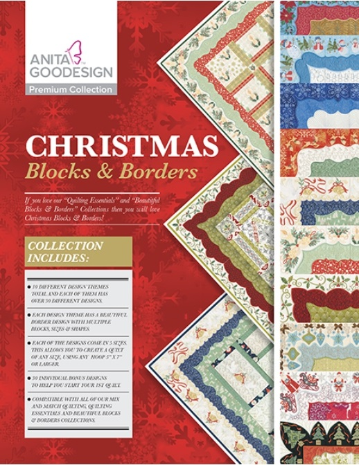 Christmas blocks and borders CD/DVD. You must own an embroidery machine to use this prize. Value = $179.95. International shipping. Winner pays postage