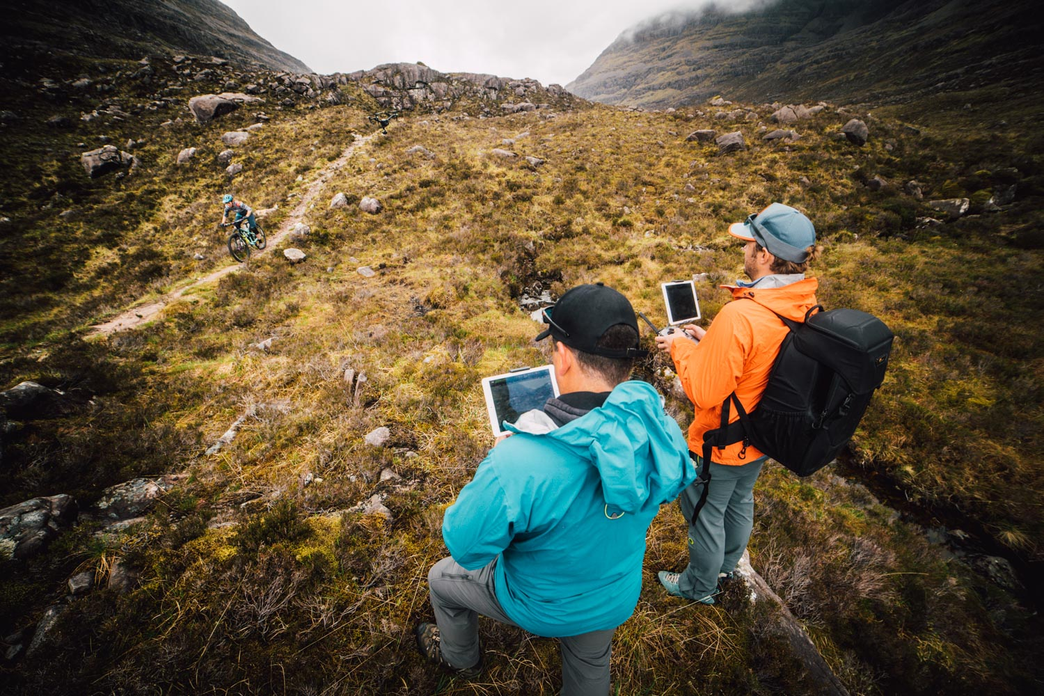 Drone Filming, Aerial Imagery, North Wales, MTB Scotland.