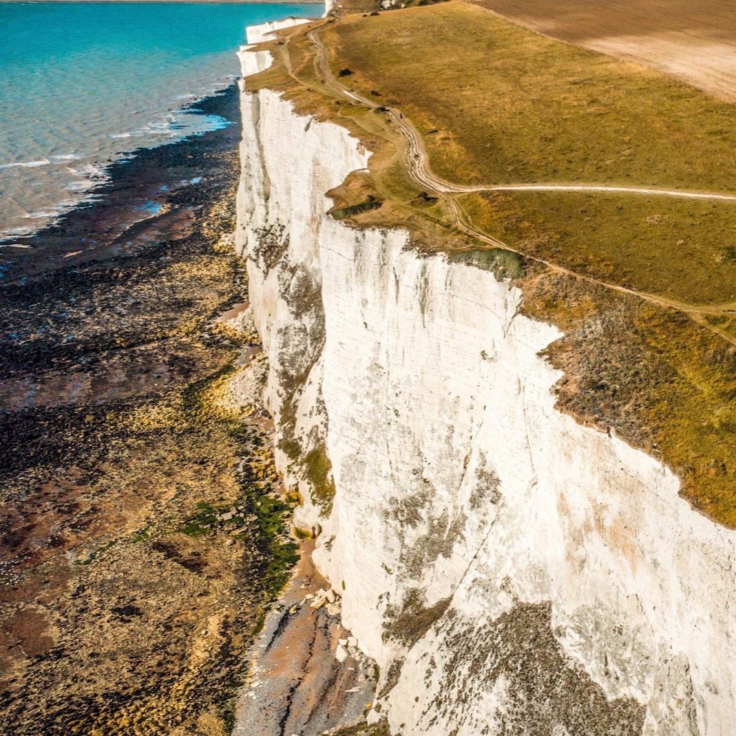 Drone Filming on the White Cliffs of Dover - We've been at the White Cliffs of Dover drone filming for a forthcoming TV documentary about two people who run a business nearby.The documentary has been filmed over the last few months and we're here to get general vistas of the iconic scenery around Dover and to get linking and introductory shots for the specific locations in the film flying our DJI Inspire 2 Drone.