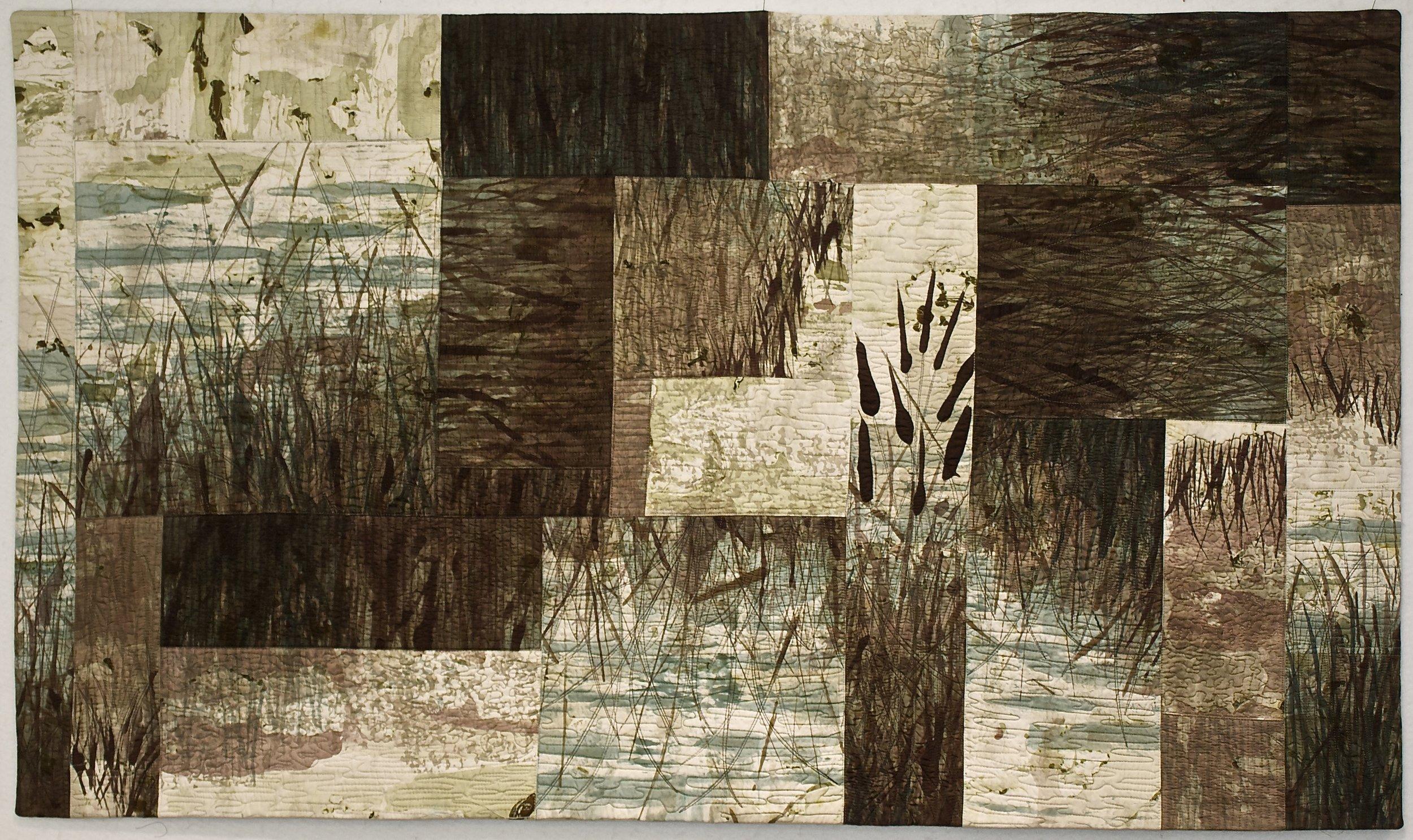 "Wetlands I  52.5"" w x 30.5"" h (133x77.5 cm)"