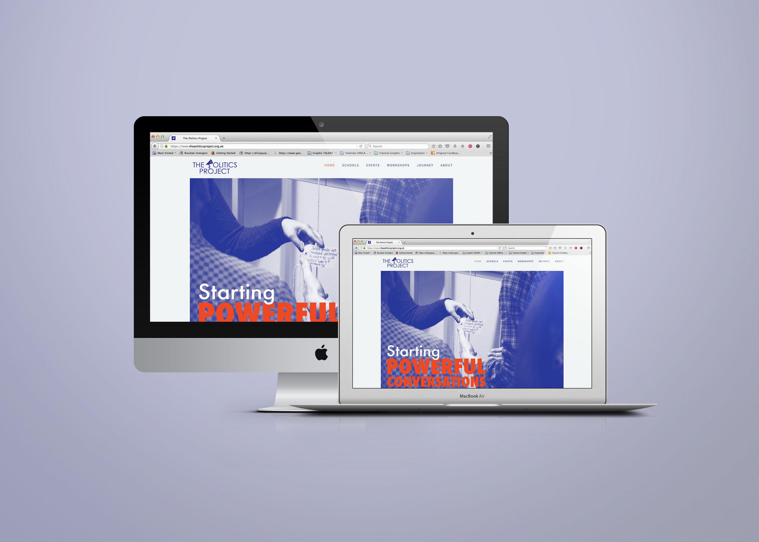 The Politics Project branding & website
