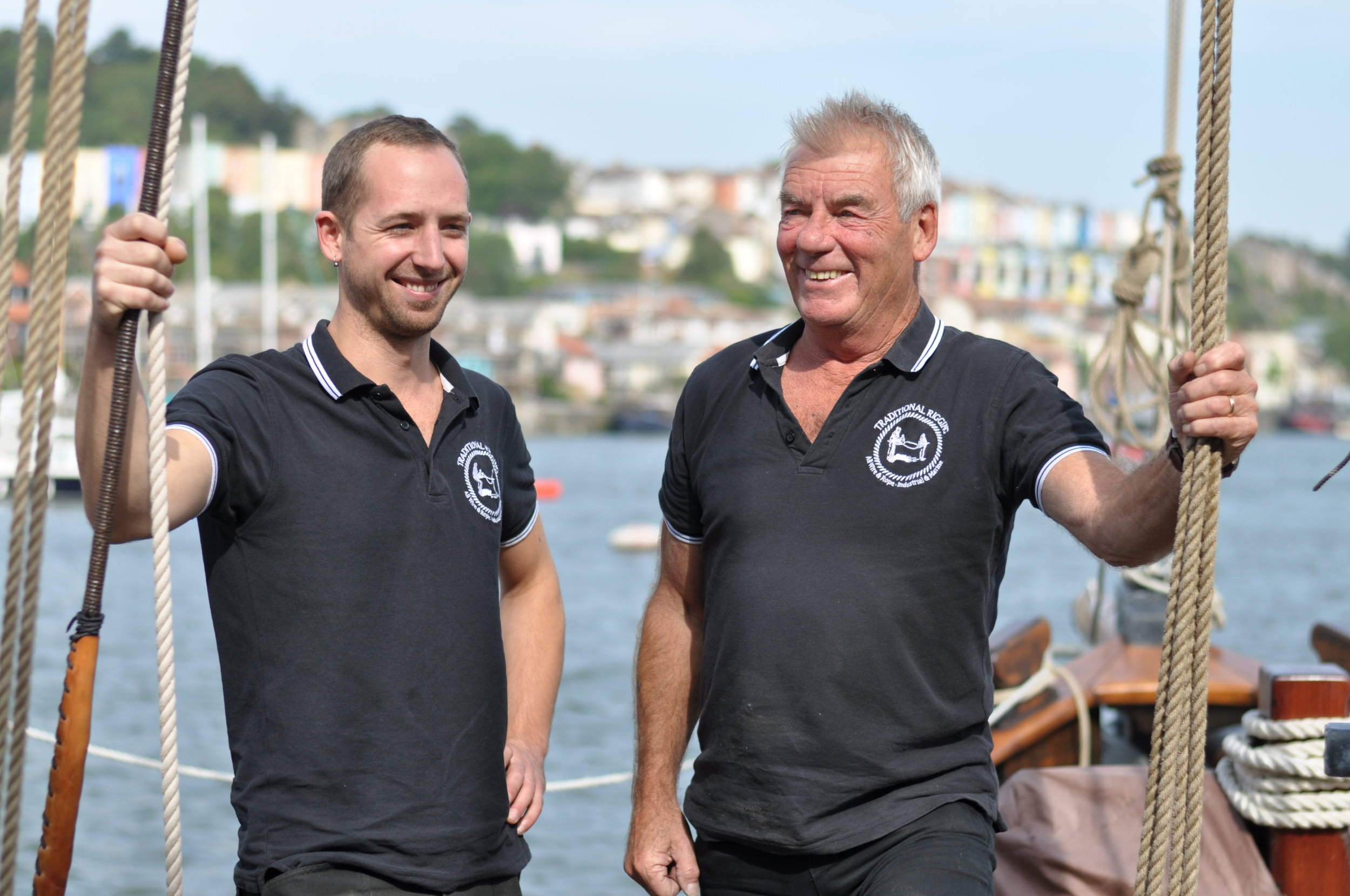 Jay Redman-Stainer and Dennis Platten of Traditional Rigging Bristol