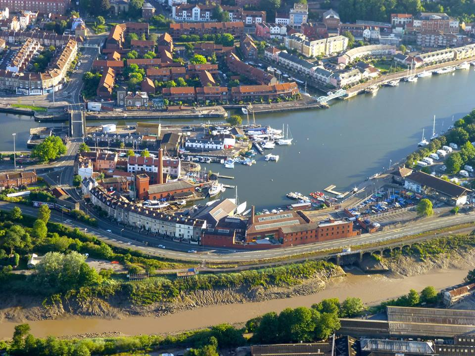 traditional rigging underfall yard bristol from the sky