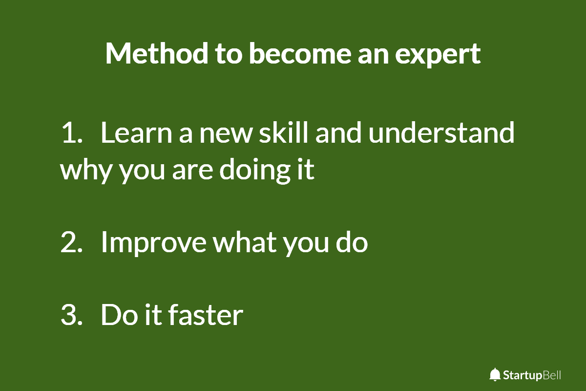 Three simple steps to becoming an expert