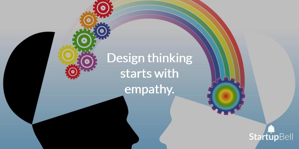 Design thinking starts with empathy.