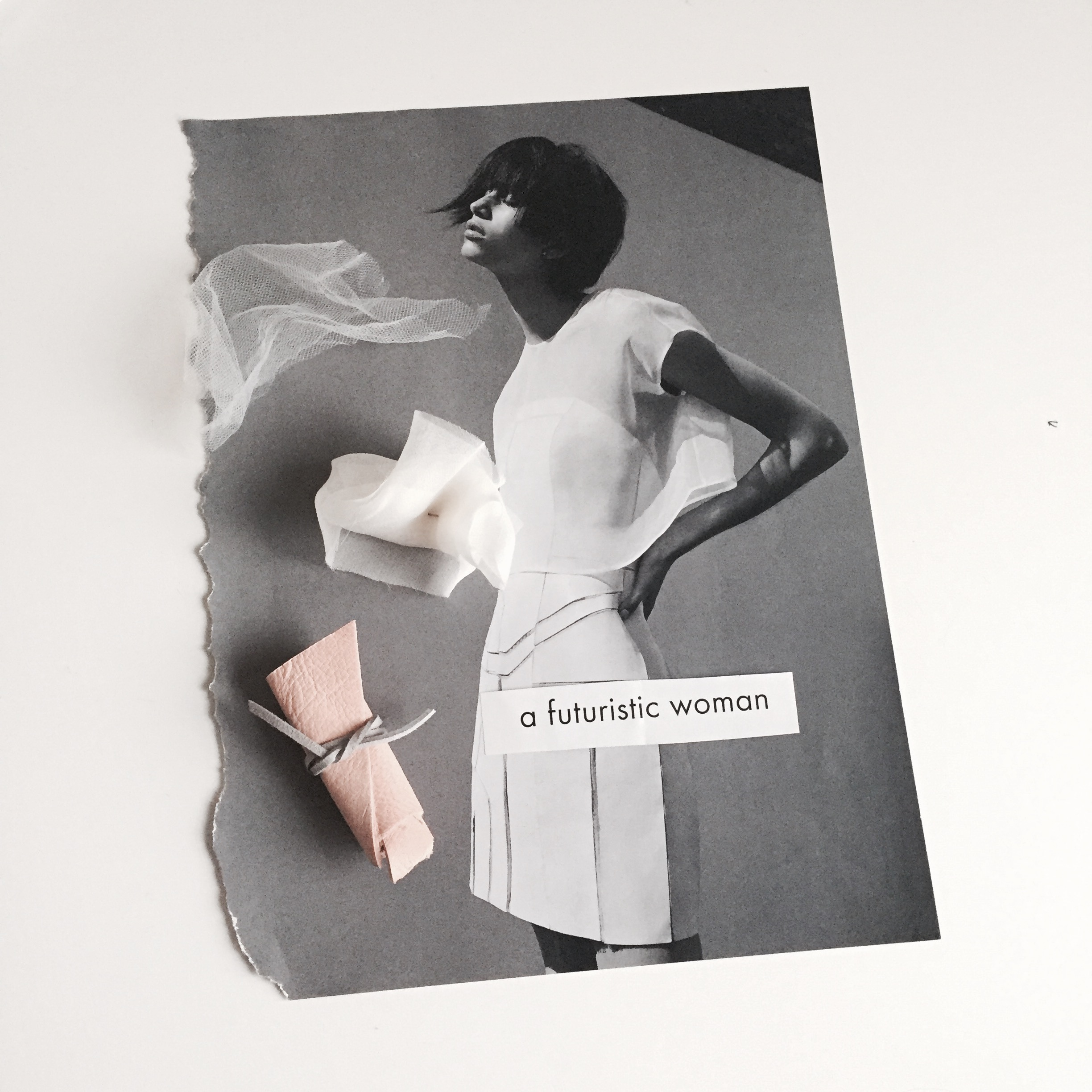 Fabric Mood Inspired by the I.D editorial 'a futuristic woman'