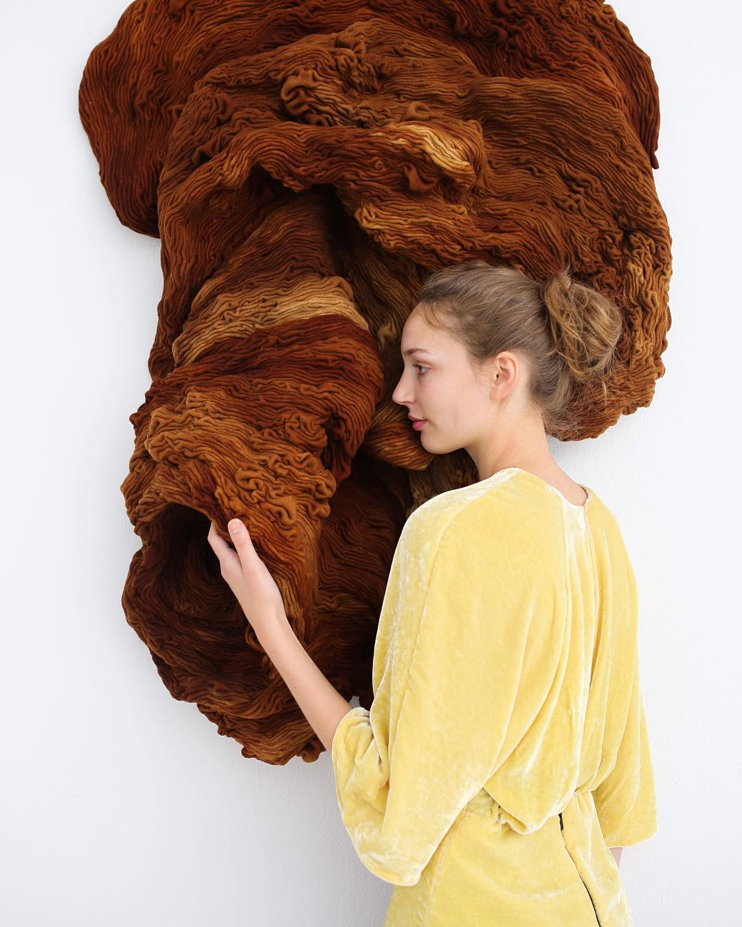 Handdyed sculpture and blouse-hanne-friis.jpg