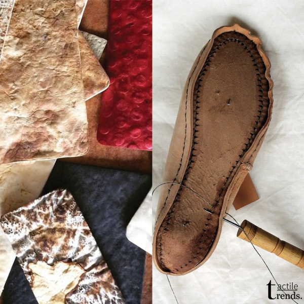Images: Mycelium Leather by  Myco Works  |  Sutor
