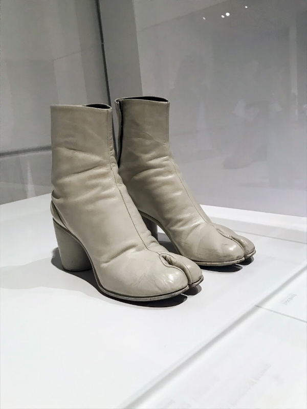 Tabi Boots by Martin Margiela at the MoMa Exhibit, 'Items: Is Fashion Modern?'