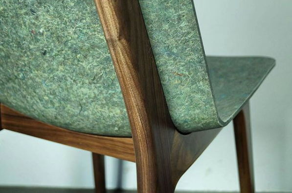 The Unusual Chair Made from Dutch Army Uniforms