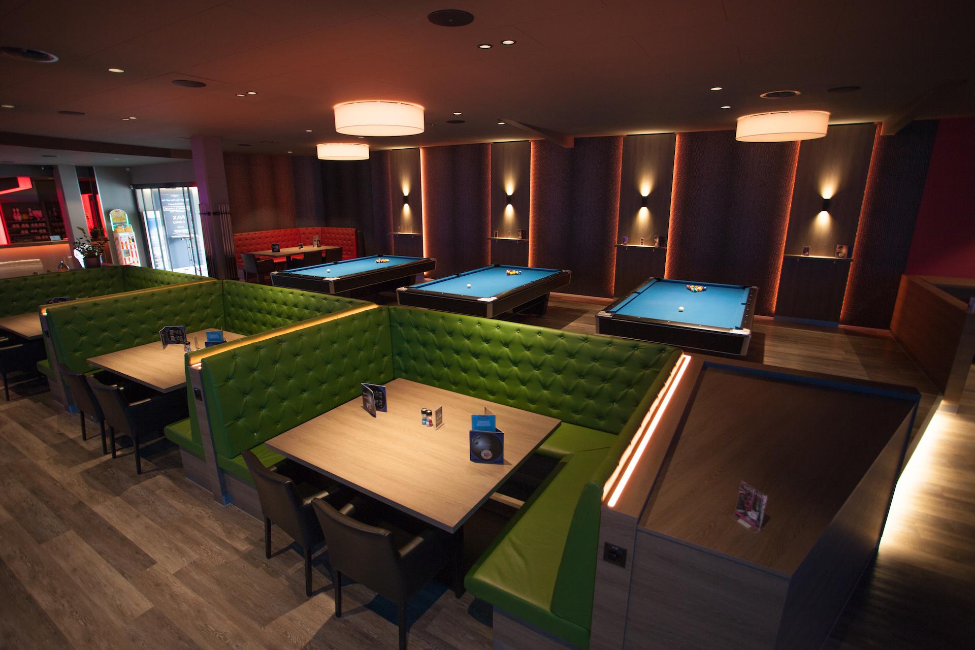 Die Falken Lounges, hinten dran befindet sich unsere Billiard Tische