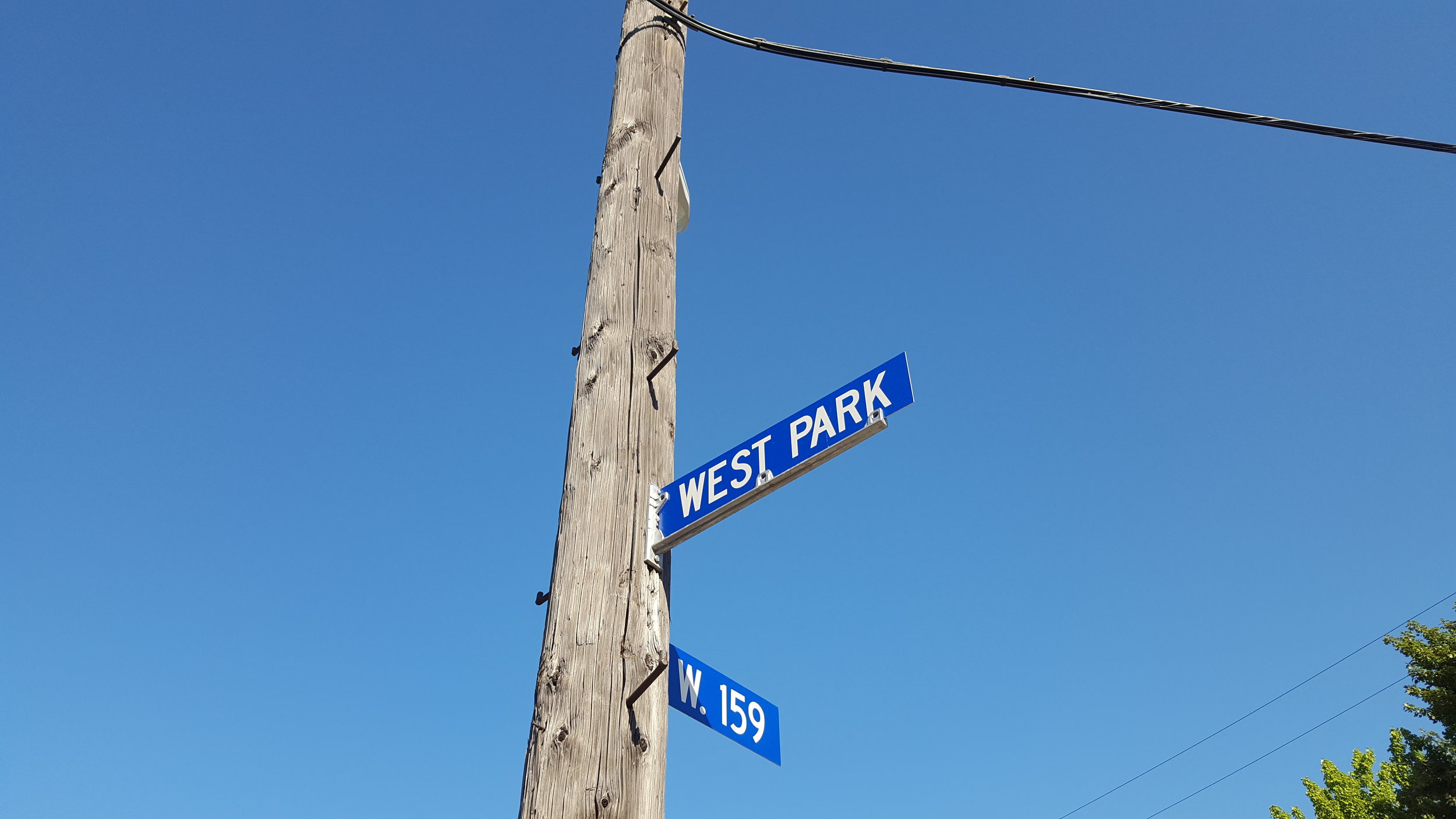 corner of west park and 159th
