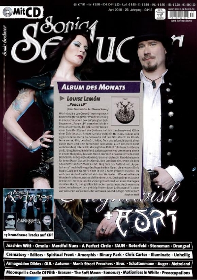 """Sonic Seducer [DE]    Album of the month + 'Thirst featured on the CD    """"And suddenly the Swede sounds as if Chelsea Wolfe is blinking in the sun."""" –Thomas Pilgrim,"""