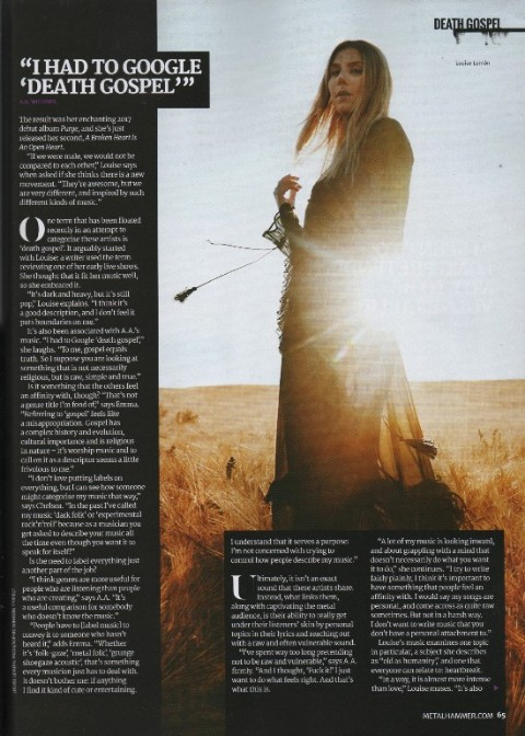 Metal Hammer Louise Lemón