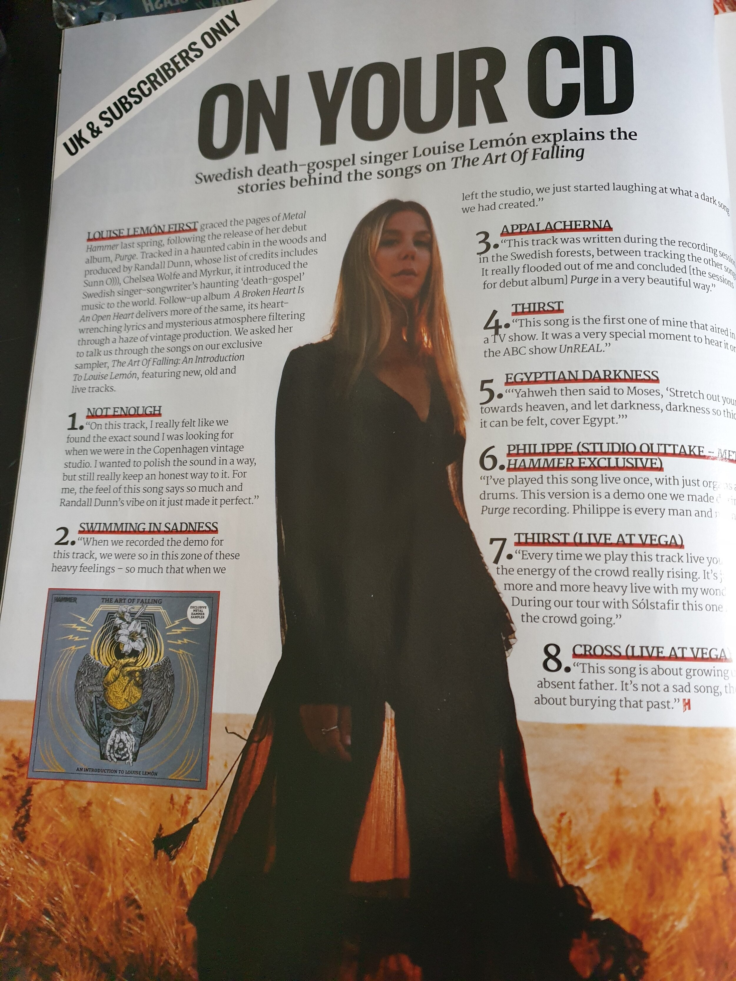 Track by track, CD Included in Magazine, Metal Hammer UK
