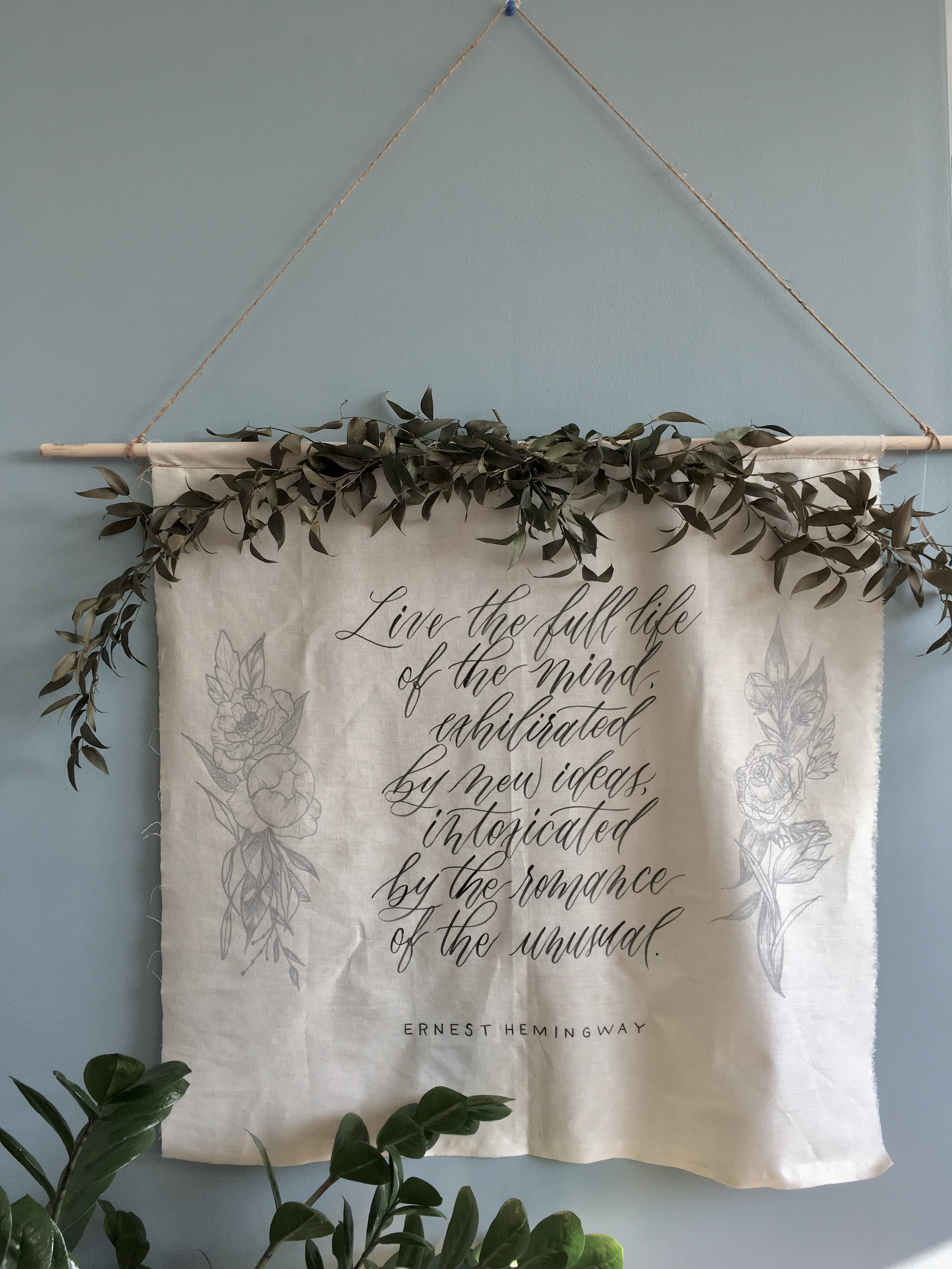 Banners - Cut, designed and calligraphed for a soft and organic vibe for your photographs or in your home.