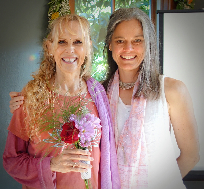 Yogini Kaliji (left), founder of TriYoga International, has visited Central Pennsylvania often to share the wisdom of TriYoga with students and teachers from near and far.