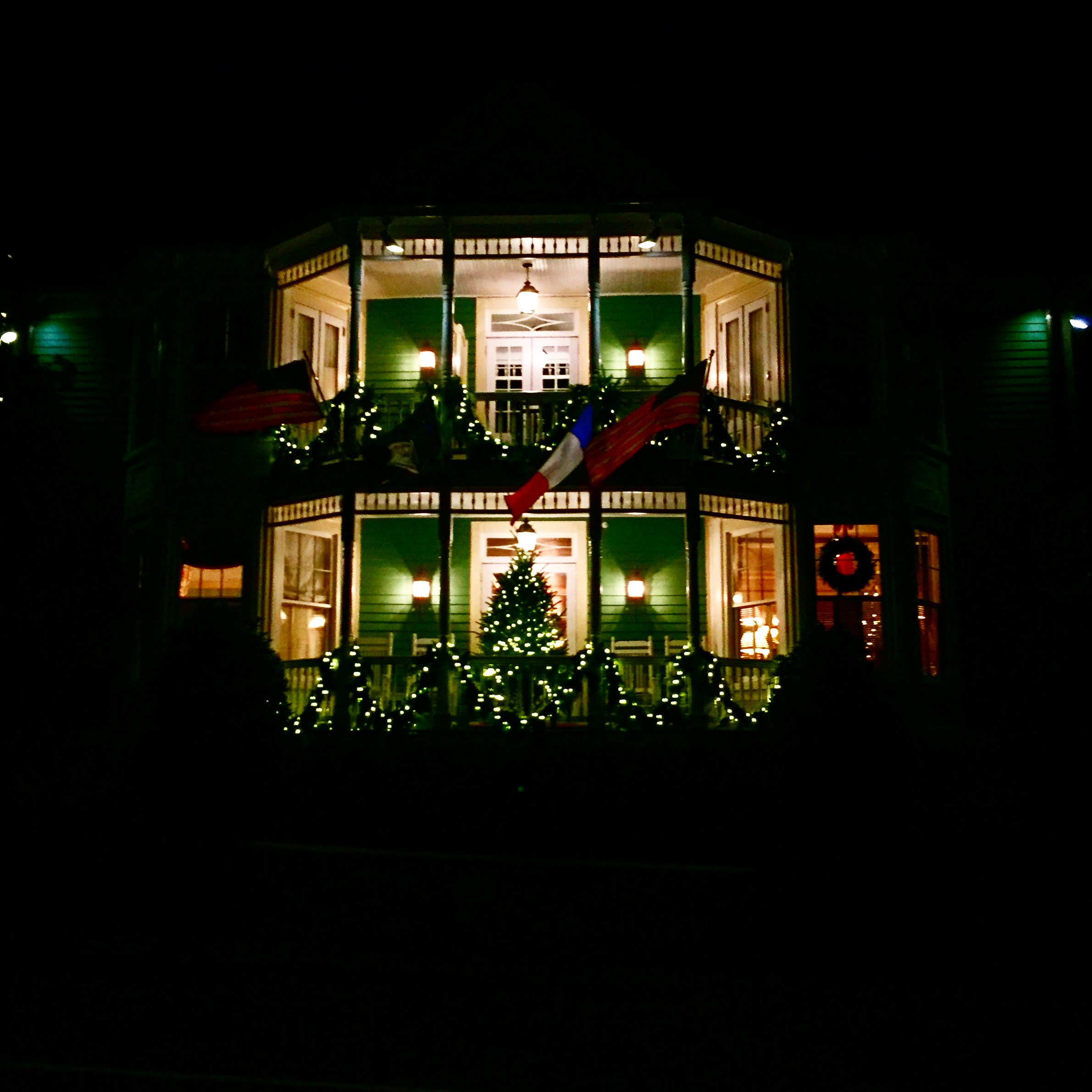 After dinner take an evening stroll around the village of Little Washington and view the festive lights and decorations, decking two homes above