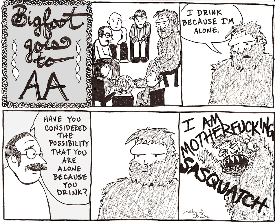 Bigfoot Goes To AA