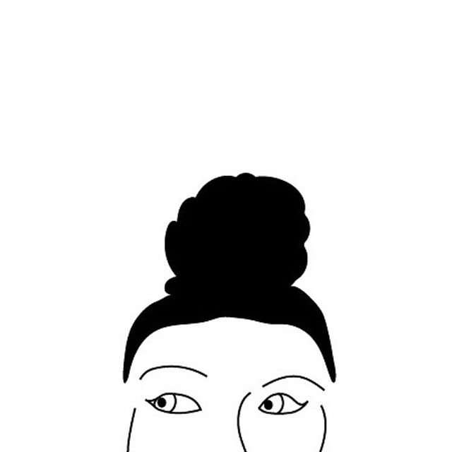 My personality? Is messy bun with a side eye a personality type? Because I'm not sure if there really is a better way to describe me. 😆  Classic Alonda messy bun masterpiece care of the lovely and talented @cynthomas.art.  #saturdayvibes #portraitart