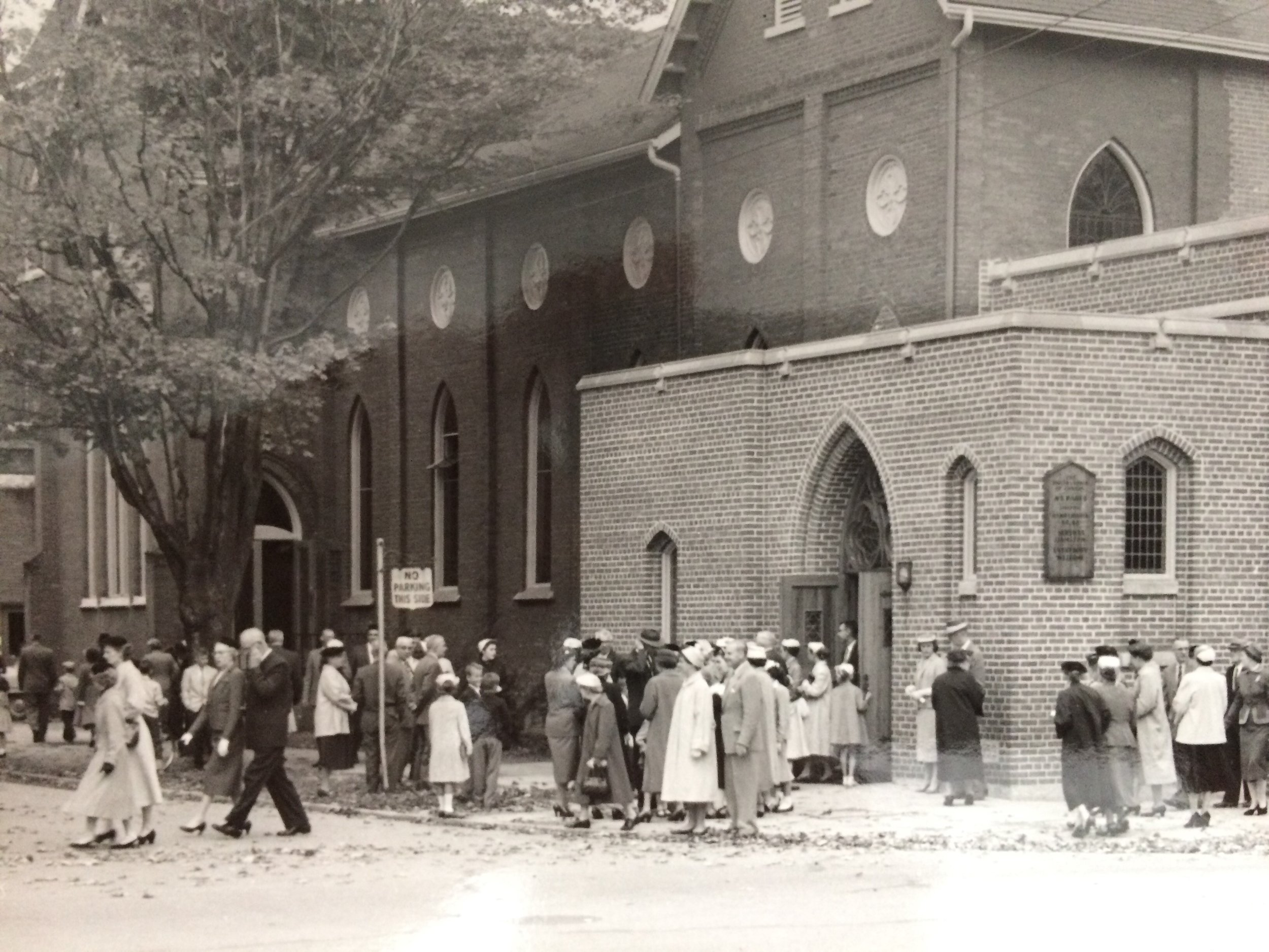 St. Paul's United Church in the 1950's -- archival photo thanks to D. Hunter