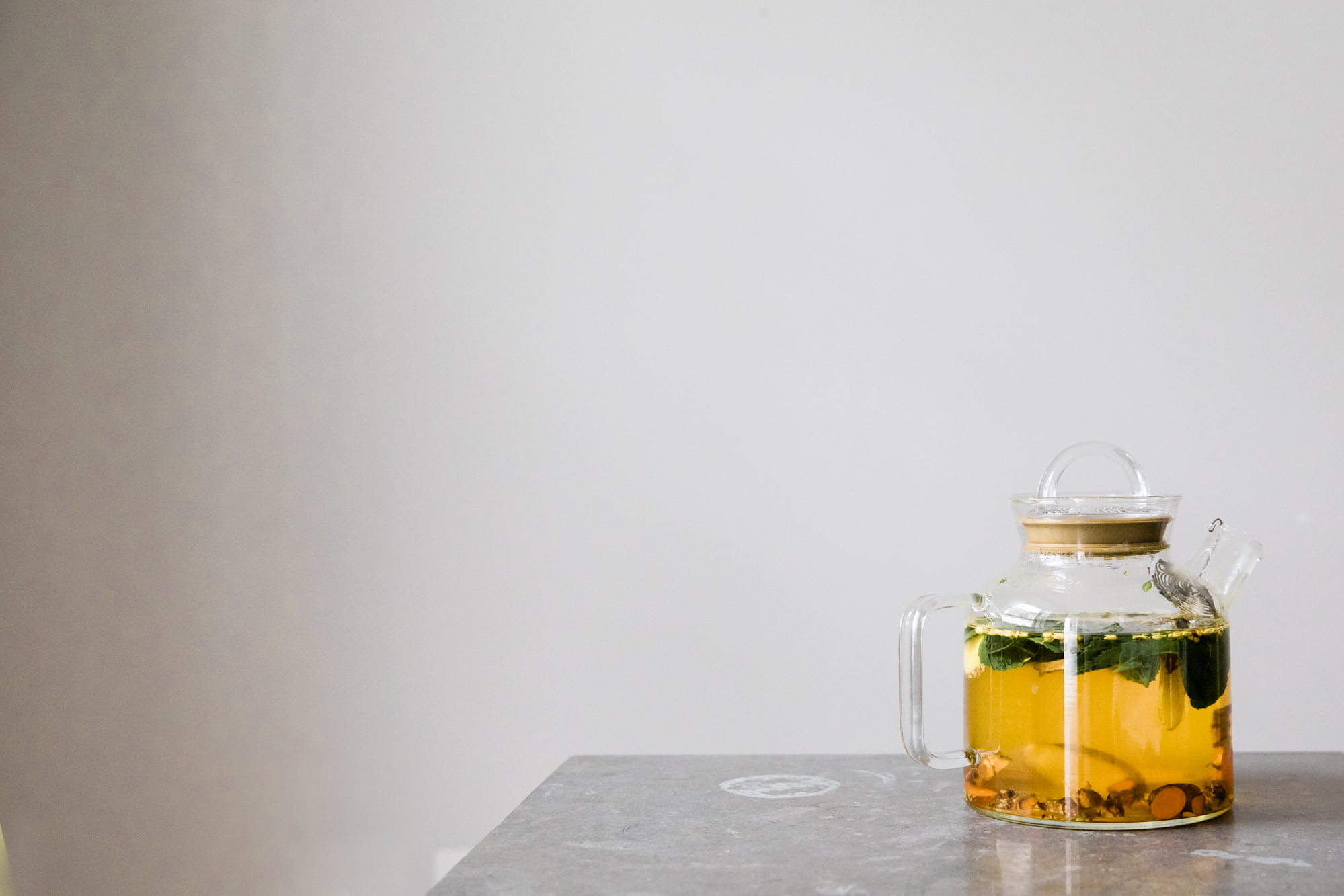 Turmeric, Ginger, and Mint Tea