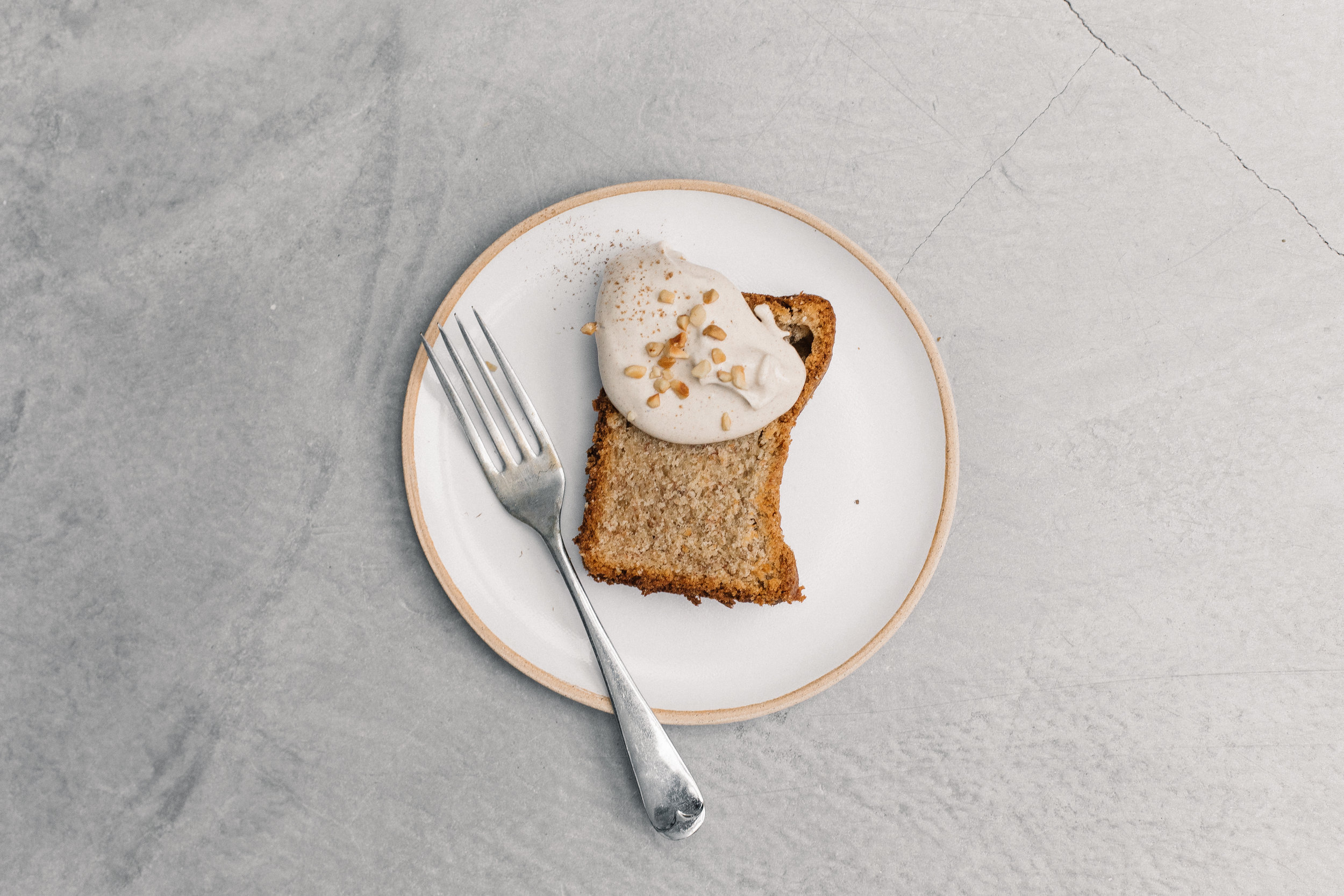 Spiced Yoghurt Banana Bread With Gingerbread Maple Mascarpone Cream