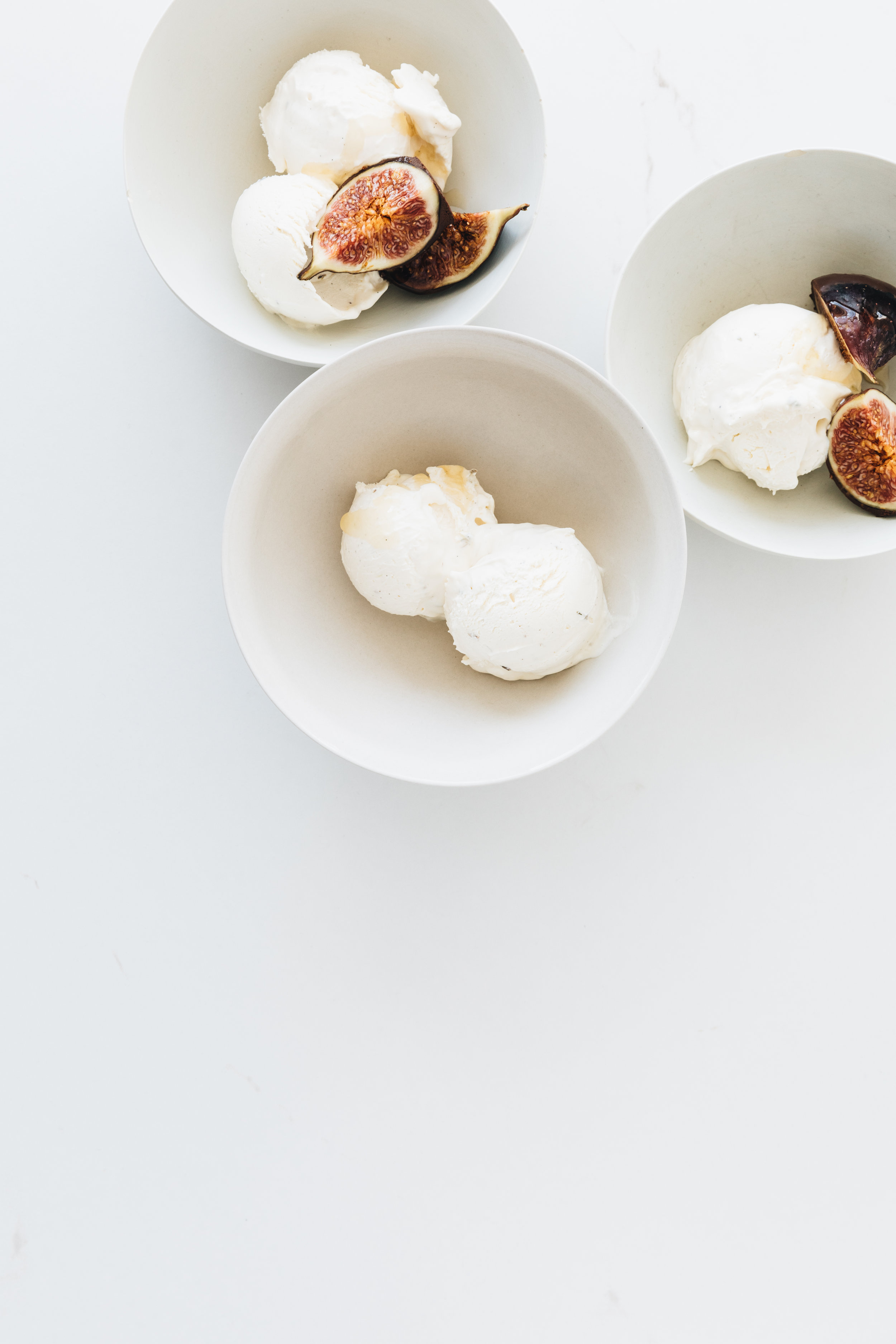 Sweet Honey & Lavender Salt Ice Cream With Chocolate Dipped Figs