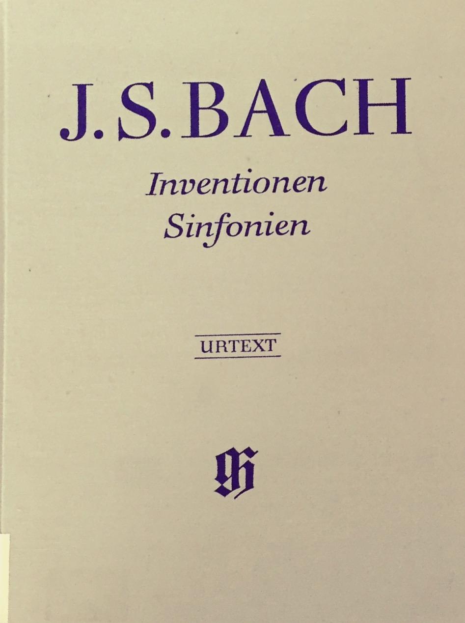 J.S BACH (1685 - 1750)   15 Inventions à deux voix BWV 772-786 Pour clavier (arr. Duo Gindrat-Lefebvre)