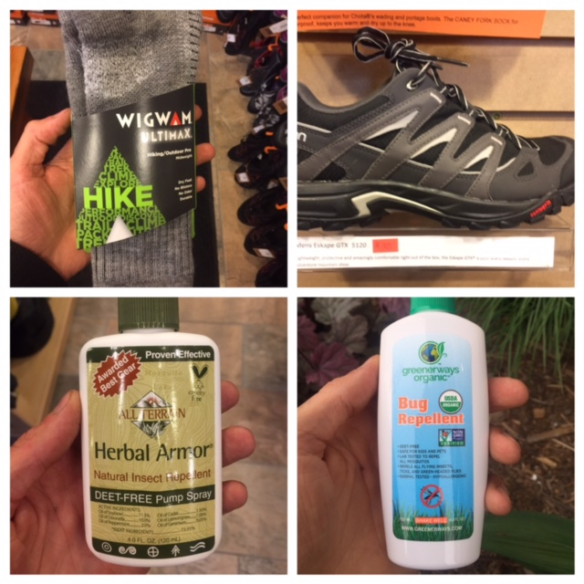 Vegan footwear and herbal insect repellent (greenerways organic is pet-friendly)