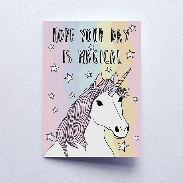 Magical card for the magical mamas 🦄 ✨ Coming to you this weekend at the very last minute nyc (you know you never buy your card before that anyway).