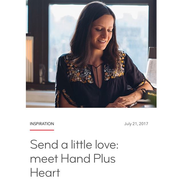 Check out the Hand Plus Heart feature on the @moo blog! I had the pleasure of sitting down with their wonderful photographer @jfrayphoto to chat about Hand Plus Heart and take some photos in my studio. Link in bio. Hope y'all enjoy 💕